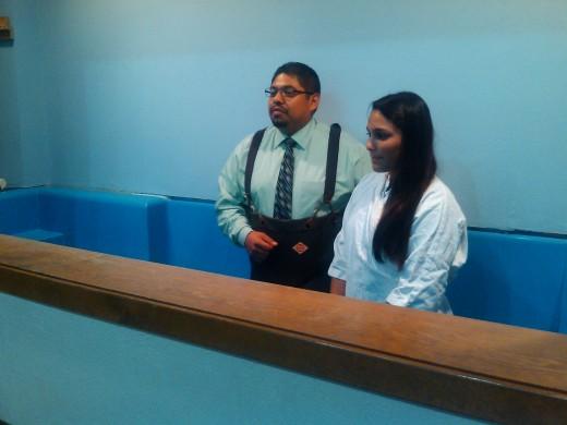 EL bautismo de la hermana Saraí